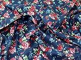 Blumenmuster im Vintage-Stil Print feiner Baumwolle Voile