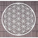 Wand-Deko Blume des Lebens ø 25 cm aus Edelstahl mit Kristallen | Wand-Schmuck Lebensblume Wand-Dekoration Spirituelles Symbol | Esoterik Geschenke günstig kaufen