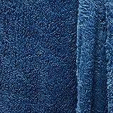 Fell Kunstfell Doppelseitig Double Face Teddy Stoff Meterware flauschig blau