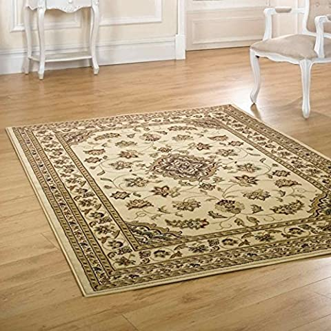 Flair Rugs Sincerity Sherborne Traditional Round Rug, Beige, 133 Cm