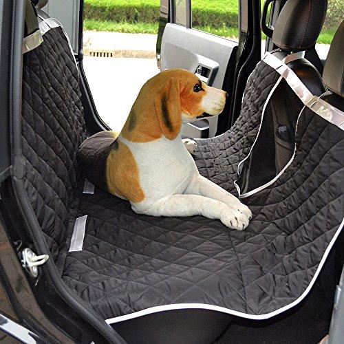 Anself Auto Hundedecke Hunde Autoschondecke Hängematte mit Betrachtungsfenster 147x137cm Schwarz