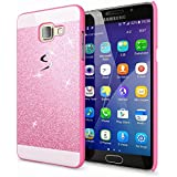 Samsung Galaxy A3 2016 Coque Protection de NICA, Ultra-Fine Glitter Housse Slim Hardcase Paillettes Cover, Etui Rigide Strass Bumper Mince pour Telephone Portable Samsung A3 2016 - Pink Rose