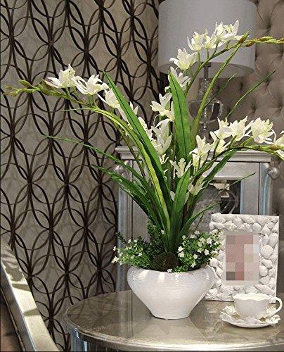 Dolo Kunstblumen, Balkon, Kunstblumen, Orchideen, Kostüme, Topfpflanzen, Dekoration für Haus, - Orchidee Kostüm