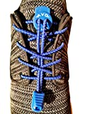 AVOSPORTS Elastische Schnürsenkel - Schnellschnürsystem 130cm (Blau)