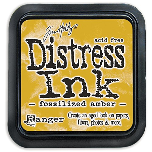 Ranger Tim Holtz Distress Ink Pad, Kunststoff, fossilized Amber, 7.5 x 7.5 x 53 cm -