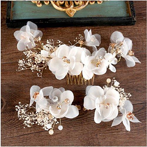 XPY&DGX Bridal Hochzeit Ballsaal Haarnadel Haarschmuck Neue braut Kopfschmuck ewige Blüte Koreanischen handgefertigten Blume haarnadel Karte Hochzeit Haarschmuck...
