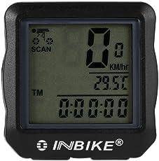 Winbang Fahrradcomputer/Kilometerzähler, kabellos, LCD-Display