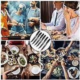 Deeplee AKZIM 6-teilig Steakmesser Set, 23 cm Edelstahl Steakmesser mit Ergonomischem Griff und Fein Gezahnte,Geschenkbox - 5
