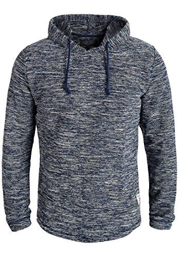 INDICODE Case Herren Kapuzenpullover Hoodie Sweatshirt aus hochwertiger Baumwollmischung Meliert Navy (400)