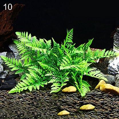 ALCYONEUS Green Fake Aquarium Plant Water Grass Ornament Fish Tank Plastic Decoration - #10 1