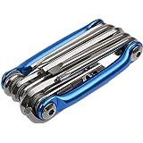 11 في 1 دراجة الطرق إصلاح متعددة الأدوات للدراجات الجبلية ركوب الدراجات مجموعة (أزرق)