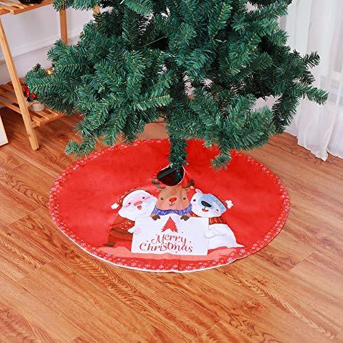 IFANSTYLE Weihnachtsbaum Rock Weihnachtsbaumdecke Rund Weihnachtsbaum Decke Groß Christbaumdecke Christbaumständer Teppich Baumdecke Weihnachtsbaum Deko,39 Zoll, Rot