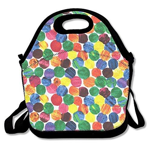 Preisvergleich Produktbild The Very Hungry Caterpillar Abstract Dots Leisure Lunch Bag Waterproof Outdoor Travel Picnic For Women, Adults, Kids, Girls, And Teen Girls