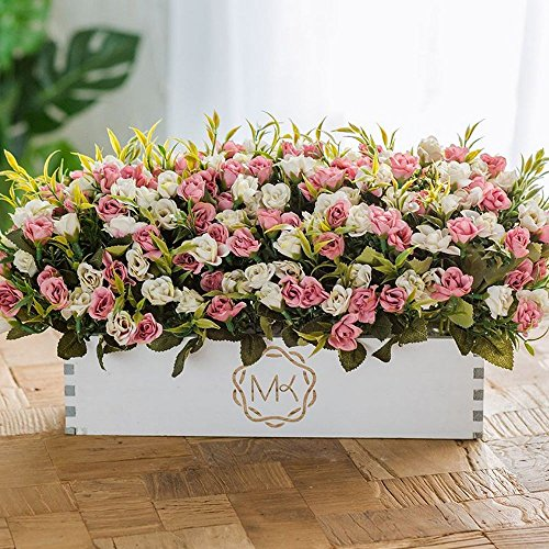 Flinfeays fiori artificiali fake flowers creative wooden fence diy gifts wedding party window kitchen office home decoration