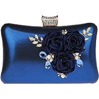 KELUOSI Elegant Damentasche Clutch Blume Abendtasche Blumenclutch Umhängetasche Handtasche