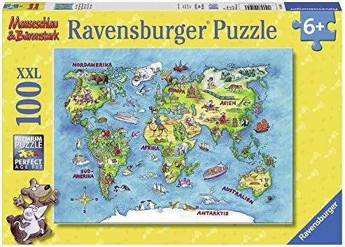 Ravensburger - 10595 3 - Puzzle - Voyage Autour du du du Monde - 100 Pièces | Forme élégante  cf82dc