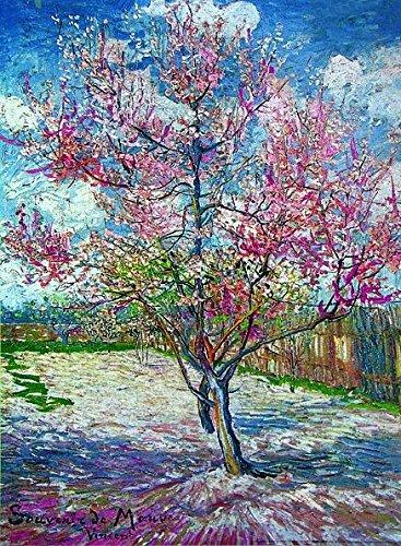 Póster Souvenir de Mauve/Melocotonero en flor Vincent Van Gogh (50cm x 70cm)