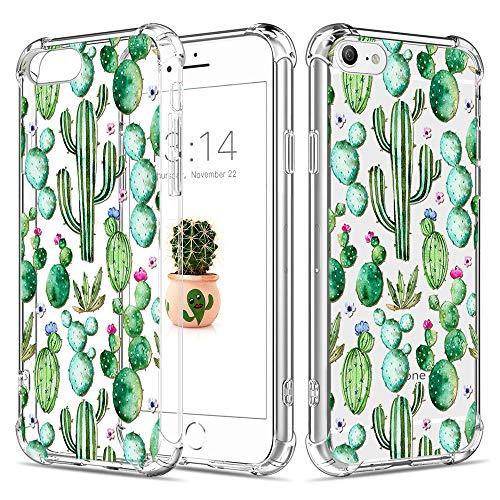 Caroki iPhone 6 Plus Hülle,iPhone 6S Plus Hülle, Kaktus Muster TPU Hülle,Silikon Schutz Handy Hülle [Scratch Resistant] HandyHülle Etui Schale Schutzhülle Case für iPhone 6 Plus/6S Plus-Kaktus 12
