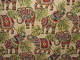 Pandoras 1m Elefanten von Gobelin-Stoff, ideal für Polsterung, Vorhang mit Kissen