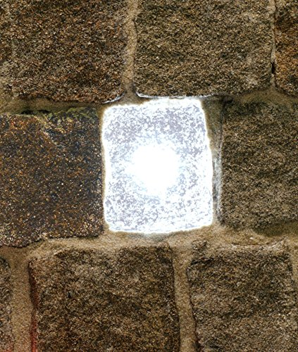 Wisdom-Plast erstein LED lampada, 6x 7cm, bianco Leuchtende pietre, 12VDC, 0,25W luce, pietra, cerotto pietre