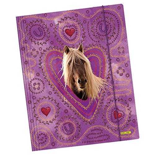 Online - Gummizugmappe Queen of Hearts, DIN A4, Karton (Mädchen Für Online)
