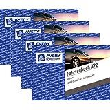 4er Sparpack Avery Zweckform 222 Fahrtenbuch, DIN A6 quer, steuerlicher km-Nachweis, 40 Blatt, weiß