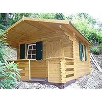 Italfrom - Caseta para jardín de madera de abeto de 34 mm, 10,4