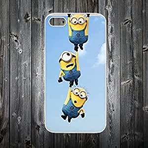 MINIONS DESPICABLE ME DESIGN WHITE PLASTIC CASE COVER FOR IPHONE 5/5s