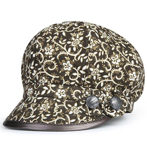 Damenhüte/Alte Beret/Eimer Hut/ Koreanische Version der GAP im Herbst dünne achteckigen Cap/Mode Hüte/Mama-Kappen/[Thin oktogonalen Kappe]-B One (Hut Maid)