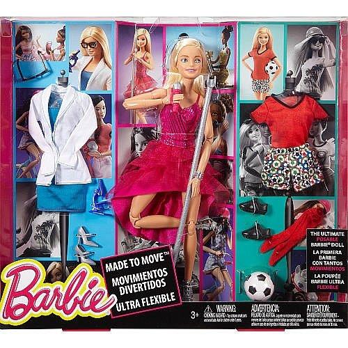 Barbie made to move doll con accessori moda
