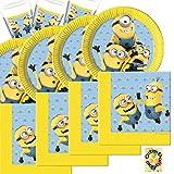 Lovely Minions Partyset 52 Teile für 16 Kinder Teller Becher Servietten