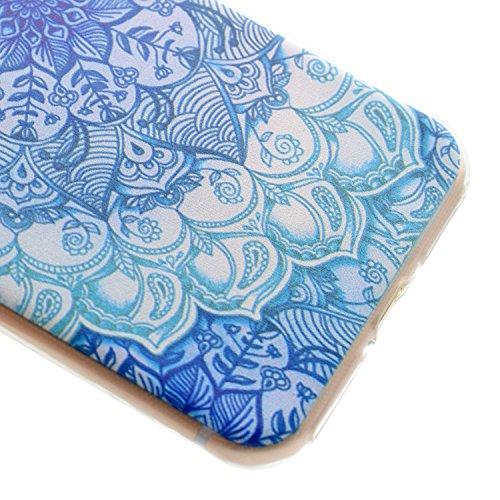 Voguecase® Per Apple iPhone 7, Custodia Silicone Morbido Flessibile TPU Custodia Case Cover Protettivo Skin Caso (Be happy / pastello) Con Stilo Penna verde tappeto
