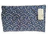 Cuscino 20 x 32 cm, 0,70 kg nocc. di ciliegia CON SISTEMA DI APERTURA. Realizzato a mano in Trentino (blu stella alpina)