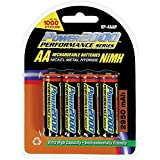 Power 2000 AA Rechargeable Batteries 2950mAh (4 Pack) XP4AAP