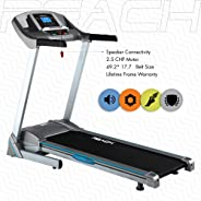 REACH T-501 | Best Motorized Treadmill for Home Use Gym with 2.5 HP DC Motor auto inclination & Extra Cushioning