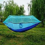 Tabithaolsou Tragbare Reise Outdoor Camping Hängematte Ultraleichte Schaukel Schlaf Hängende Bett mit Moskitonetz Abdeckung passen 2 Person