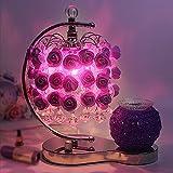 Eastlion 48 Roses Romantische Aroma Tischleuchten Schreibtischlampe Nachttischlampe für Wohnzimmer, Schlafzimmer und Hochzeit Zimmer, Valentinstag.Lila