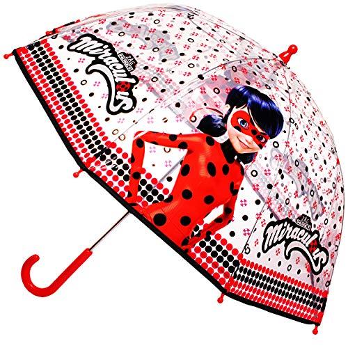 alles-meine.de GmbH Regenschirm -  Miraculous - Geschichten von Ladybug und Cat Noir  - Kinderschirm Ø 70 cm / durchsichtig & durchscheinend - transparent - Kinder - groß Stock..