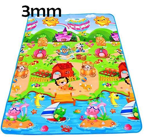 YACAOS Kinderspieldecke Babyprodukte Schaumstoffmatte Gym Spiel Puzzle Baby Teppich Spielzeug Kinder Weicher Teppich Bauernhof - Einseitig 200X180cm
