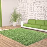 Feli Comfort Tappeto shaggy, XL, 50mm di spessore, verde, 200 cm x 290 cm