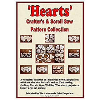 Hearts - A Collection Of 14 Full Size Scroll Saw / Craft Patterns - PDF Book On Disc