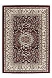 Lalee 347254378 Sehr Hochwertiger, orientalischer Medaillon Teppich in bester Qualität, 80 x 150 cm, rot