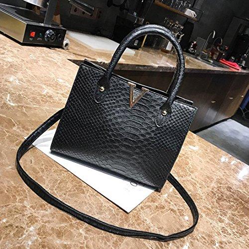 Beauty Top Borsa da Donna Borse in pelle Borse a Tracolla Donna modello alligatore Zaino Borse a Spalla Borsetta Crossbody Messenger Tote Bags Nero