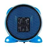 Riscaldatore elettrico del ventilatore del supporto da tavolino del piccolo desktop portatile di PTC bello nel dormitorio del Ministero degli Interni ( Colore : Blu )
