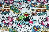 Jersey Frosch Grafitti | 1,50 Meter breit | wird in 0,1