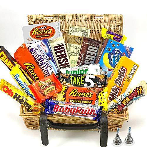 Gran Cesta Chocolate Americano   Surtido de 23 artículos incluido Hersheys Reeses Baby Ruth...