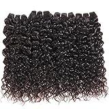 Ms Taj 8A Brésilien Vague d'Eau Vierge Cheveux 4 Bundles Non Transformés Wet Cheveux Humains et Ondulés 100% Brésilien Bouclés Weave Extensions de Cheveux Humains 50g / Pc Naturel Noir 12 12 12 12