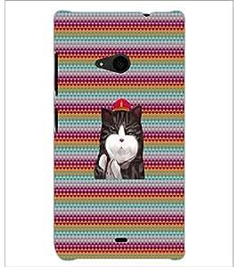 PrintDhaba Kitty D-3310 Back Case Cover for MICROSOFT LUMIA 535 (Multi-Coloured)