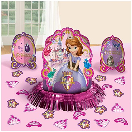 st Princess Birthday Party Table Decorating Kit Assorted Decoration (23 Pack), Multi Color, . (Sofia Party-ideen)