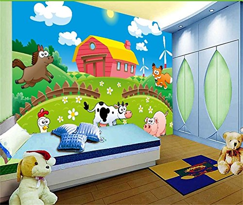 Preisvergleich Produktbild Whian 3D Tapete Wandbild Wohnzimmer Schlafzimmer Dekoration Wandtattoo Cartoon Spaß Weidenmalerei Bild Wand-Aufkleber 240Cmx180Cm / 94.48(In) X70.86(In)